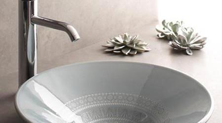 Banyolara Renk Katan Desenli Lavabo Modelleri