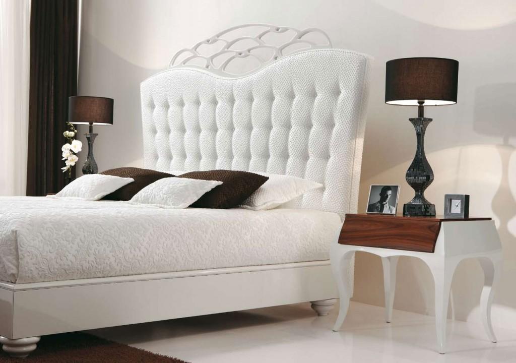 Klasik Beyaz Yatak Odalar Mobilya Kulisi