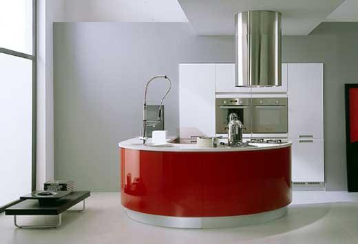 kırmızı-modern-oval-mutfak-tezgahları