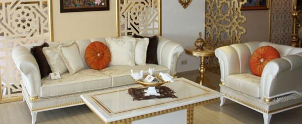 Salon ve oturma odalarının dekorasyonu.
