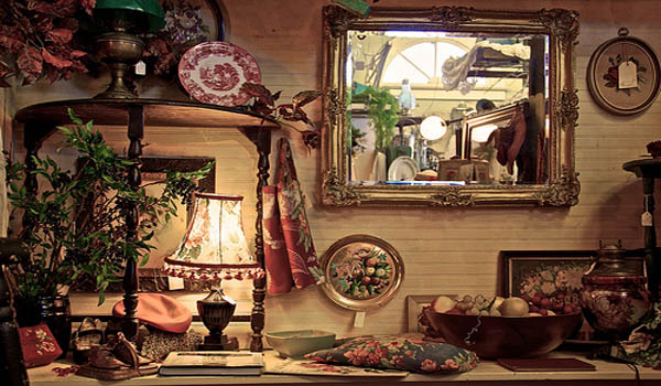 One of the display areas inside the antique store in Lilburn, GA.
