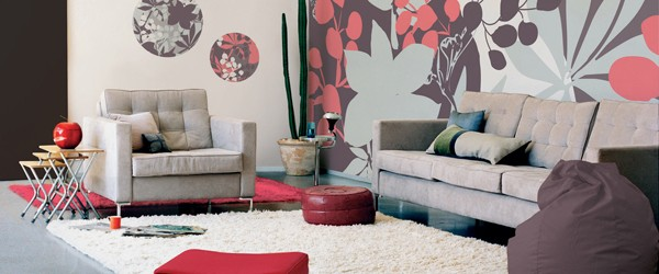 Çiçekli Duvar Kağıtları Dekorasyon
