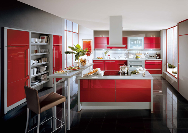 kırmızı-mutfak-dekorasyonu
