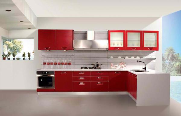 kırmızı-renk-mutfak-dolapları