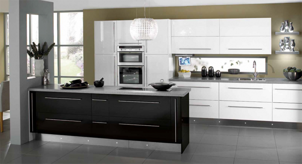parlak-siyah-beyaz-mutfak-modelleri-ve-fiyatları