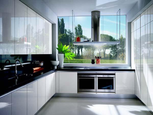 parlak-siyah-beyaz-mutfak-modelleri