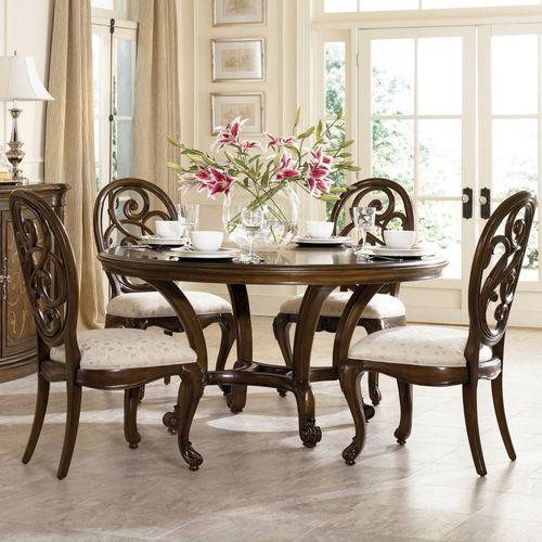 klasik-yuvarlak-yemek-masası-modelleri