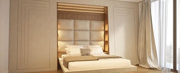 Otel yatak odalarında japon stili