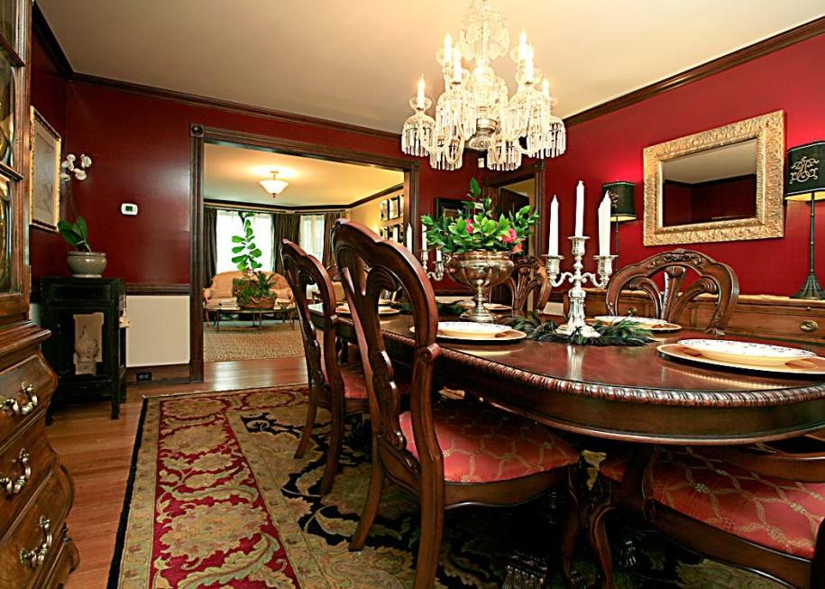 klasik yemek odası dekorasyonu