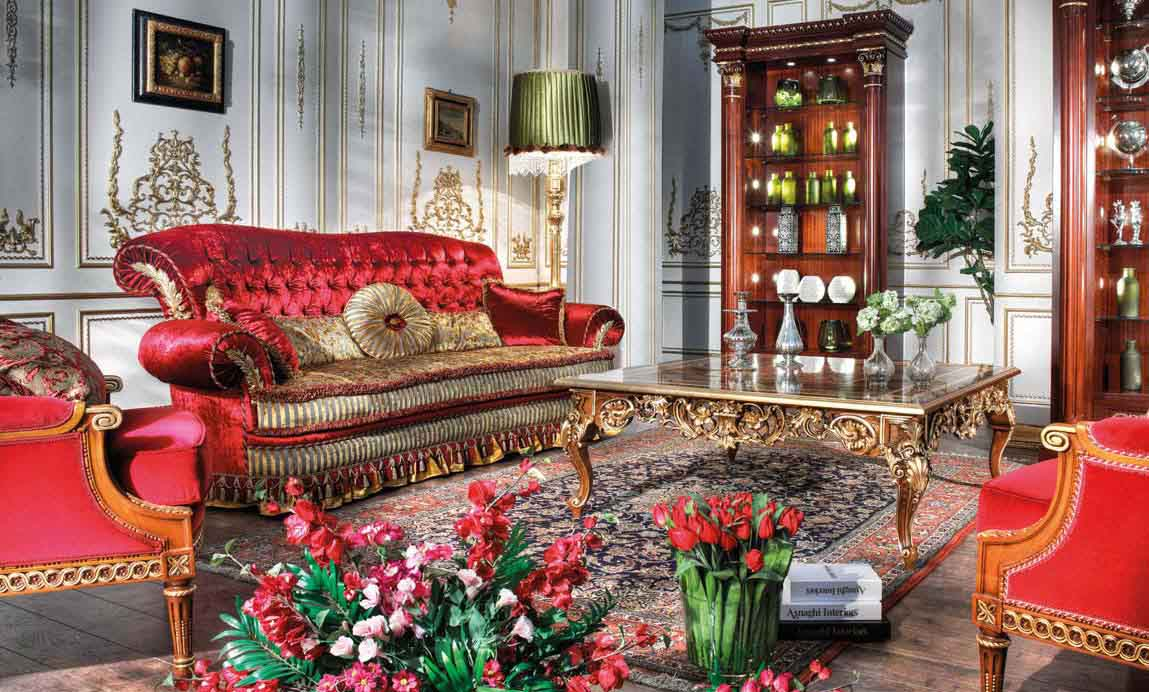 klasik oturma odası mobilyası