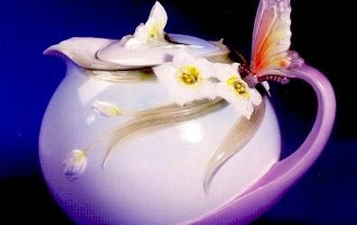 Yeşil Yaprakların Suyla Tavına Geldiği Leziz İçecek Çay
