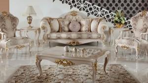 altın varaklı mobilya modelleri